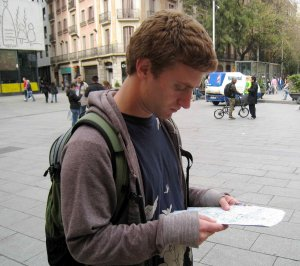 Max Navigating in Barcelona